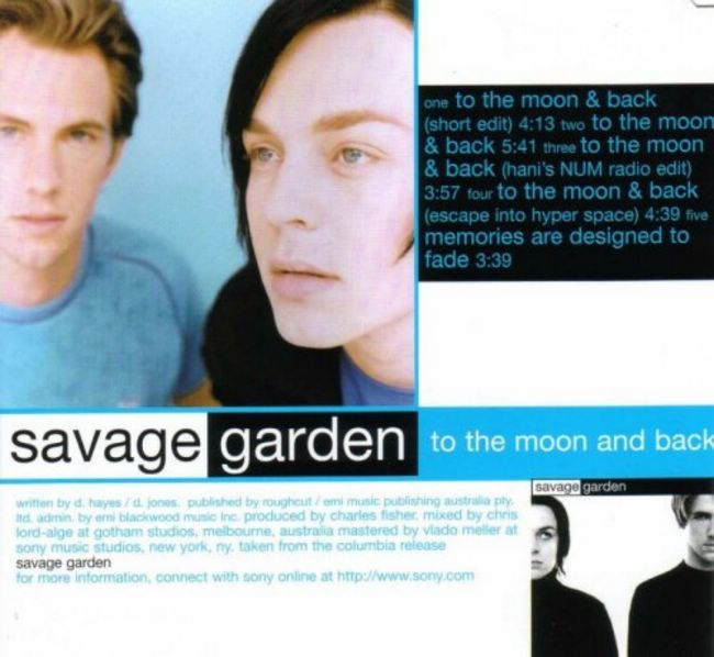 Savage Garden To The Moon And Back Acapella Free